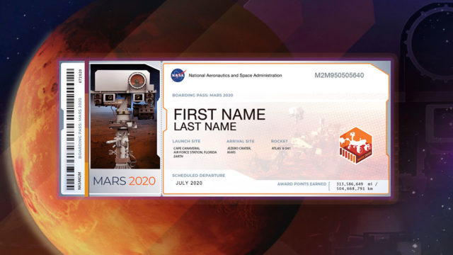 send your name to mars 2020 mission